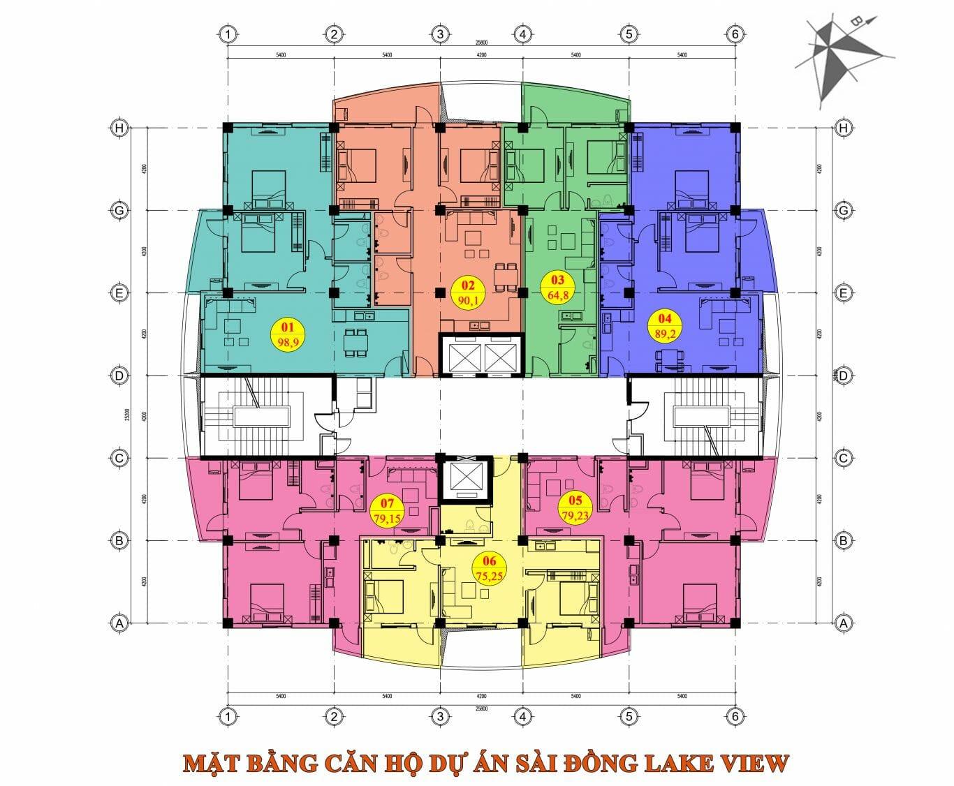 Cho thuê căn hộ chung cư Sài Đồng Lake View