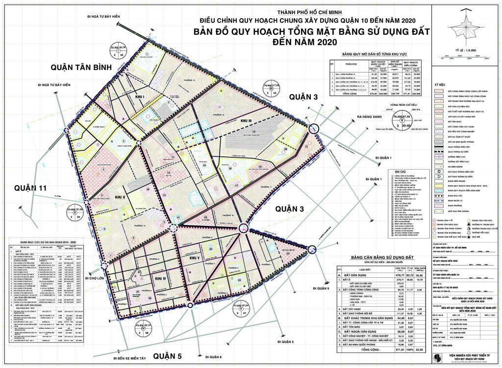 Bản đồ quy hoạch, các phường và dự án tại quận 10