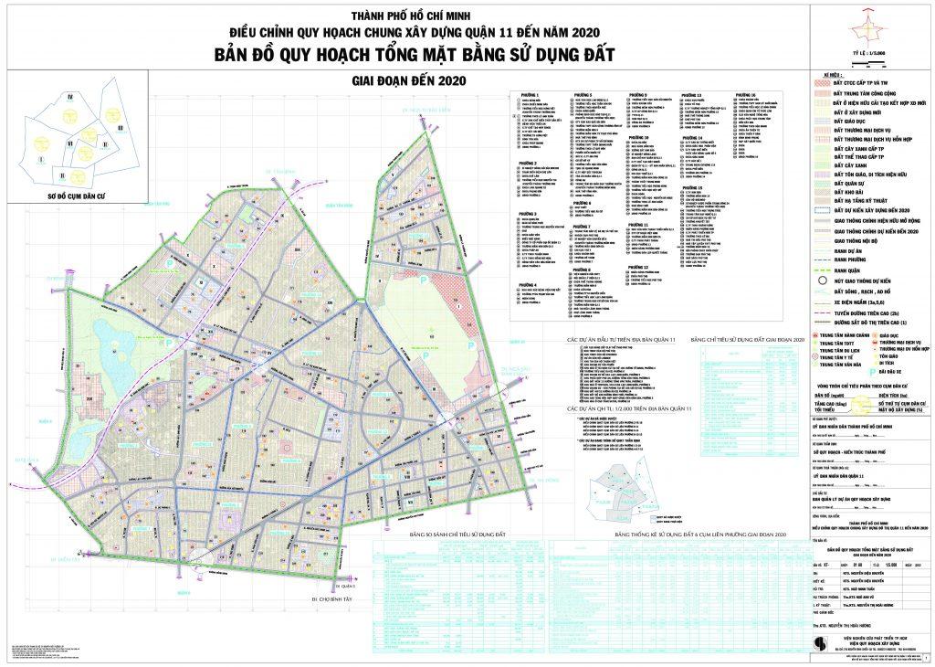 Bản đồ quy hoạch, các phường và dự án tại quận 11