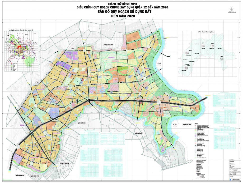 Bản đồ quy hoạch, các phường và dự án tại quận 12