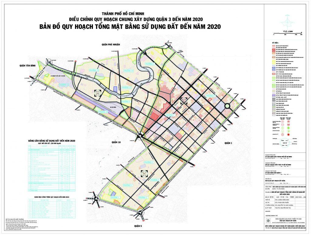 Bản đồ quy hoạch, các phường và dự án tại quận 3