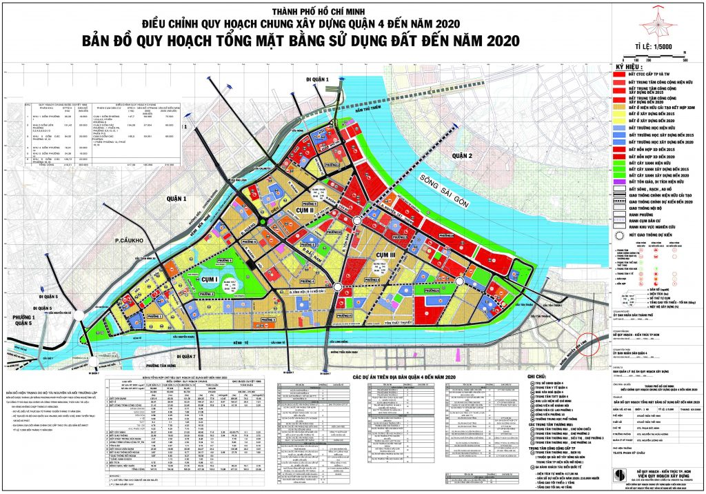 Bản đồ quy hoạch, các phường và dự án tại quận 4