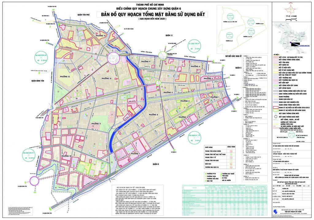 Bản đồ quy hoạch, các phường và dự án tại quận 6