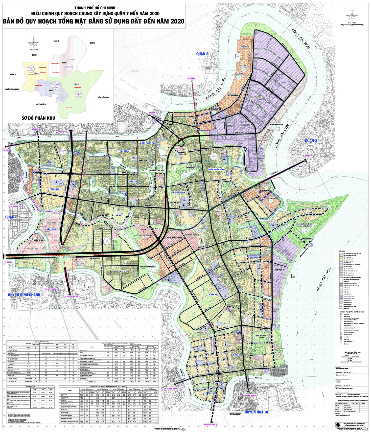 Bản đồ quy hoạch, các phường và dự án tại quận 7