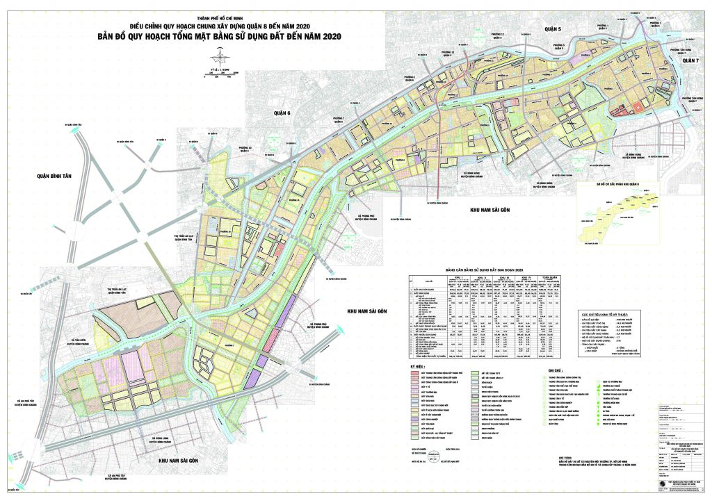 Bản đồ quy hoạch, các phường và dự án tại quận 8