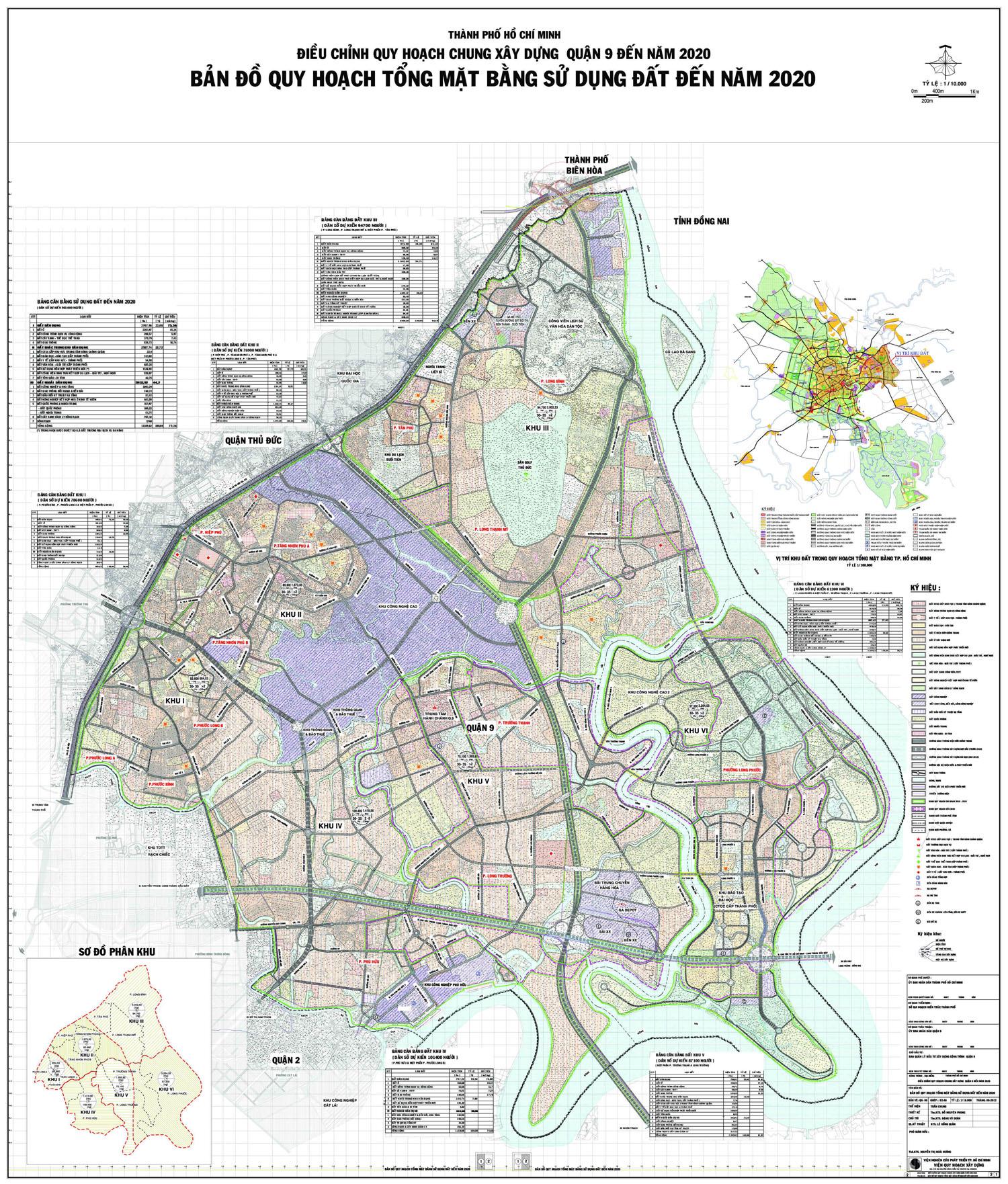 Bản đồ quy hoạch, các phường và dự án tại quận 9