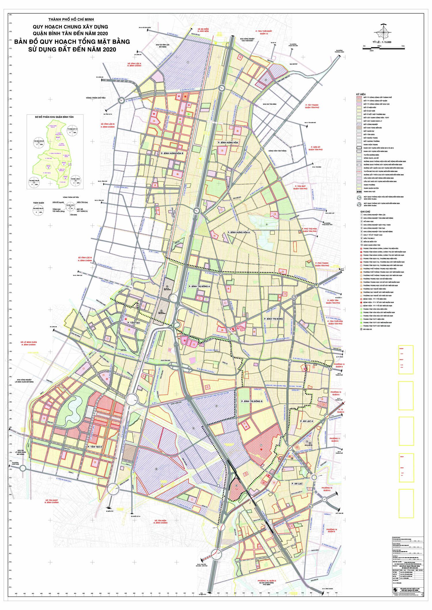 Bản đồ quy hoạch, các phường và dự án tại quận Bình Tân