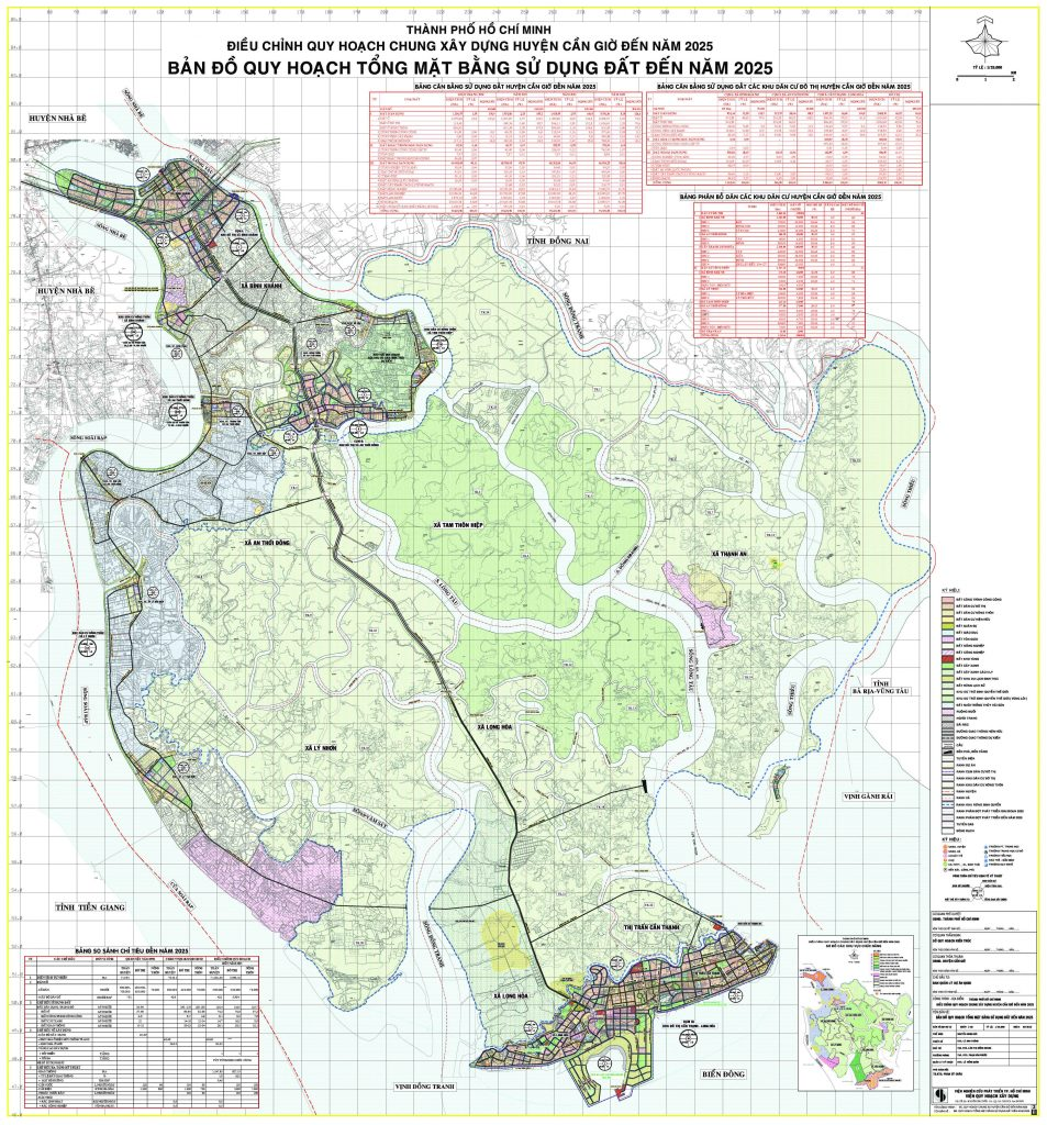 Bản đồ quy hoạch, các Xã và dự án tại Huyện Cần Giờ