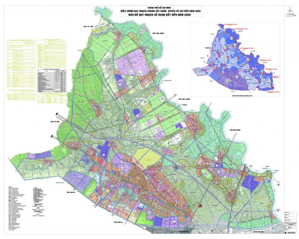 Bản đồ quy hoạch, các Xã và dự án tại Huyện Củ Chi