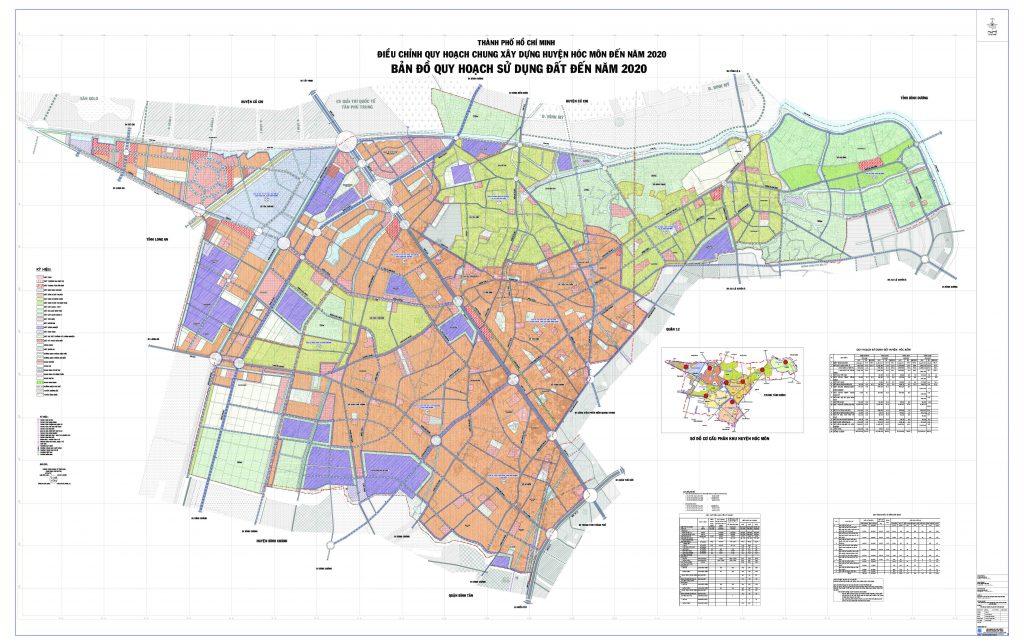 Bản đồ quy hoạch, các Xã và dự án tại Huyện Hóc Môn