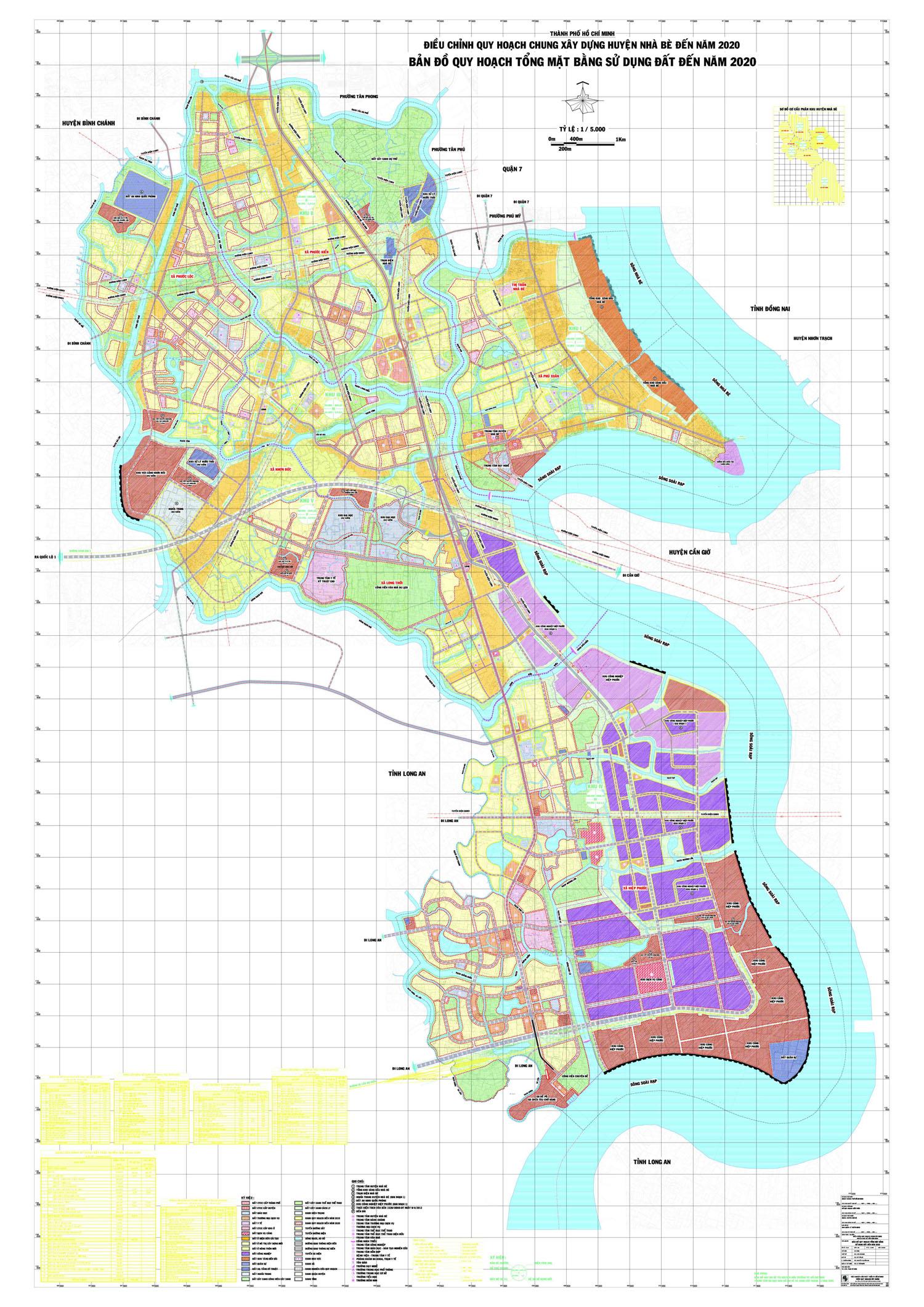 Bản đồ quy hoạch, các Xã và dự án tại Huyện Nhà Bè