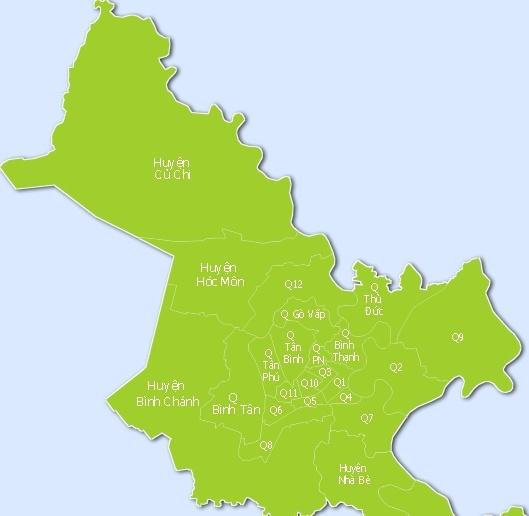 Thông tin diện tích và dân số các Quận, Huyện tại TP.HCM ra sao?