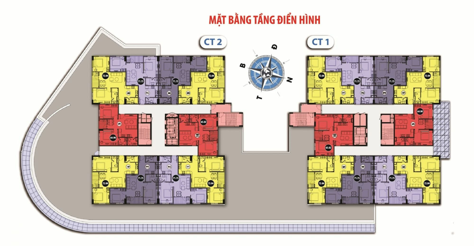 Bảng giá cho thuê căn hộ chung cư Handico Garden NO-08 Giang Biên 7