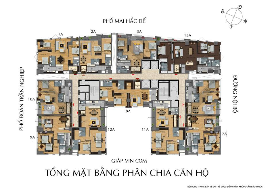 Bảng giá cho thuê căn hộ chung cư Hoàng Thành Tower