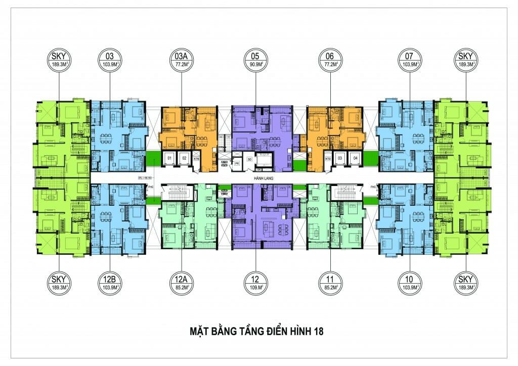 Cho thuê căn hộ chung cư One18 Ngọc Lâm