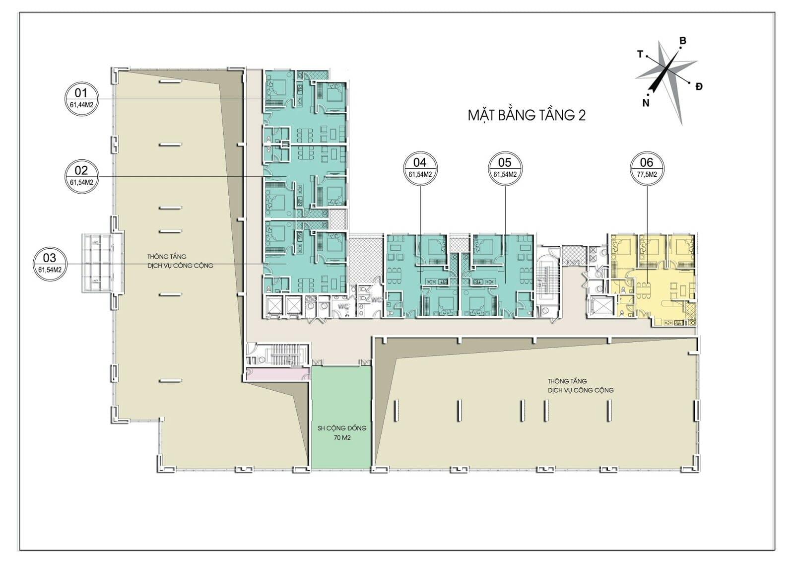 Bảng giá cho thuê căn hộ chung cư Valencia Garden 18