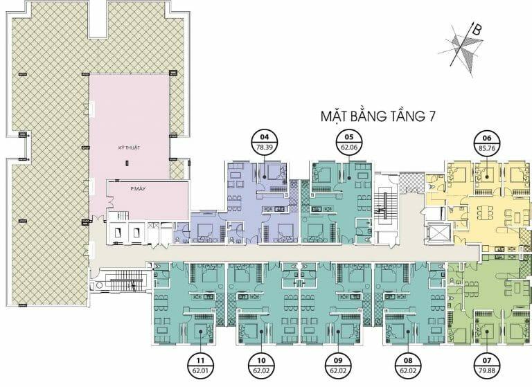 Bảng giá cho thuê căn hộ chung cư Valencia Garden 20