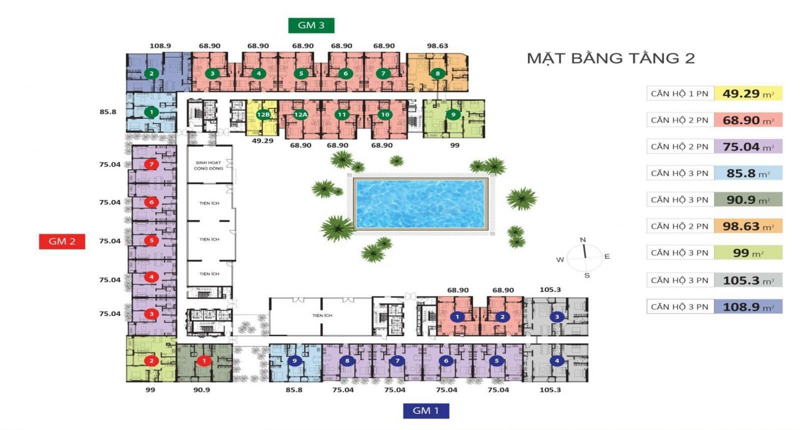 Cho thuê căn hộ chung cư Golden Mansion