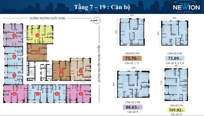 Chung cư hạng sang Newton Residence cho thuê nổi bật lên với vị trí vàng tại trung tâm