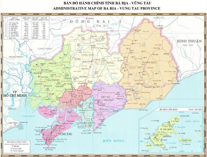 Bảng giá nhà đất Bà Rịa - Vũng Tàu từ năm 2015 đến 2020