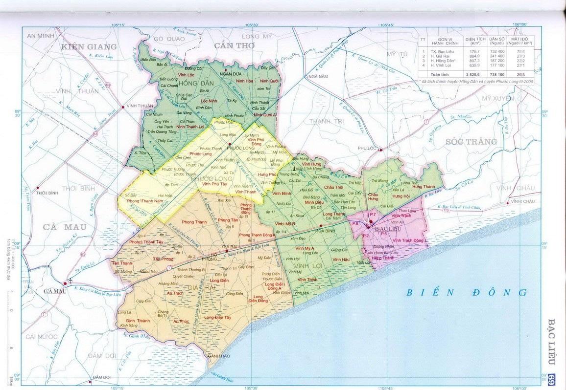 Bảng giá nhà đất Bạc Liêu từ năm 2015 đến 2020