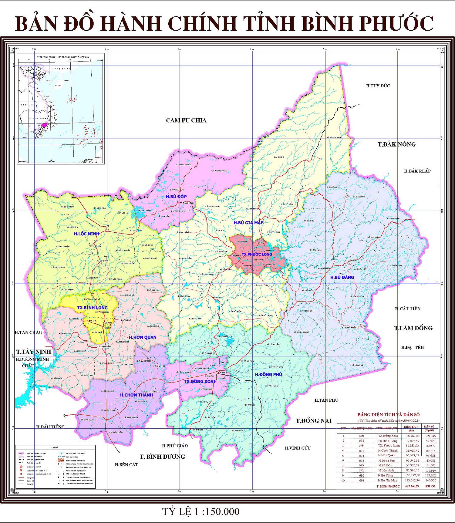 Bảng giá nhà đất Bình Phước từ năm 2015 đến 2020