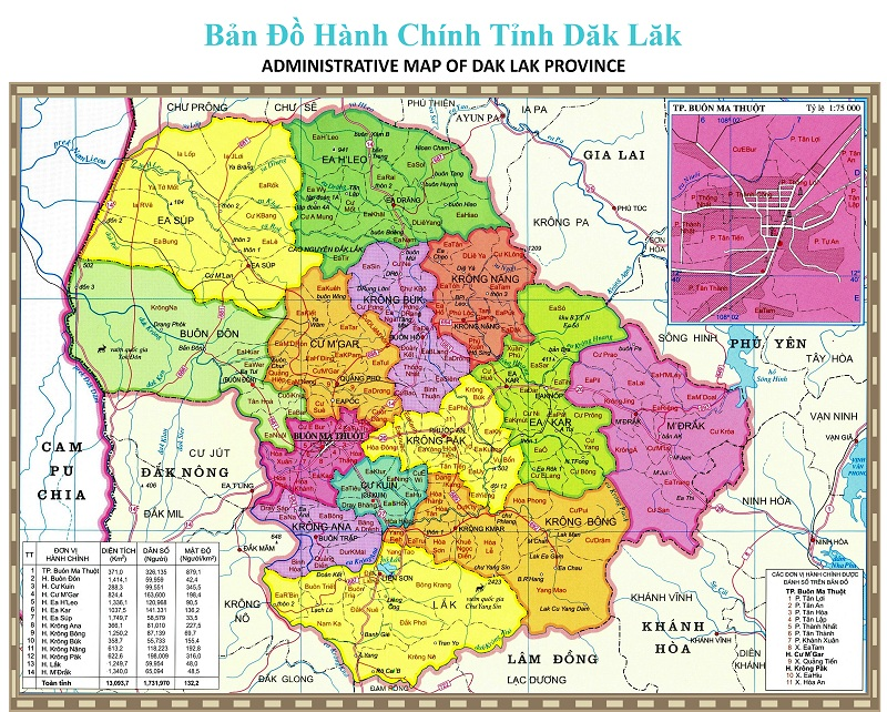 Bảng giá nhà đất Đắk Lắk từ năm 2015 đến 2020