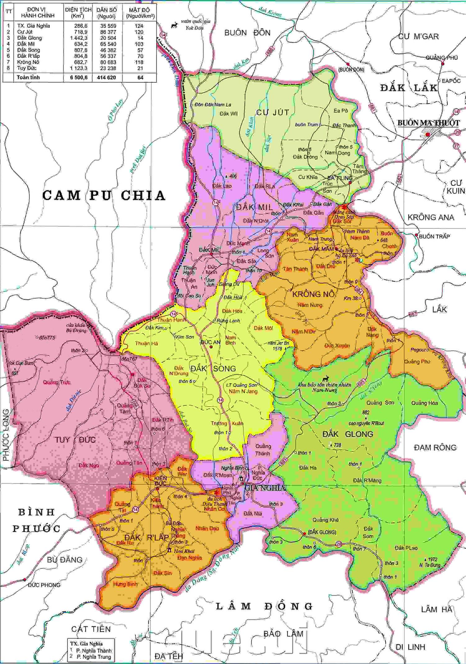 Bảng giá nhà đất Đắk Nông từ năm 2015 đến 2020