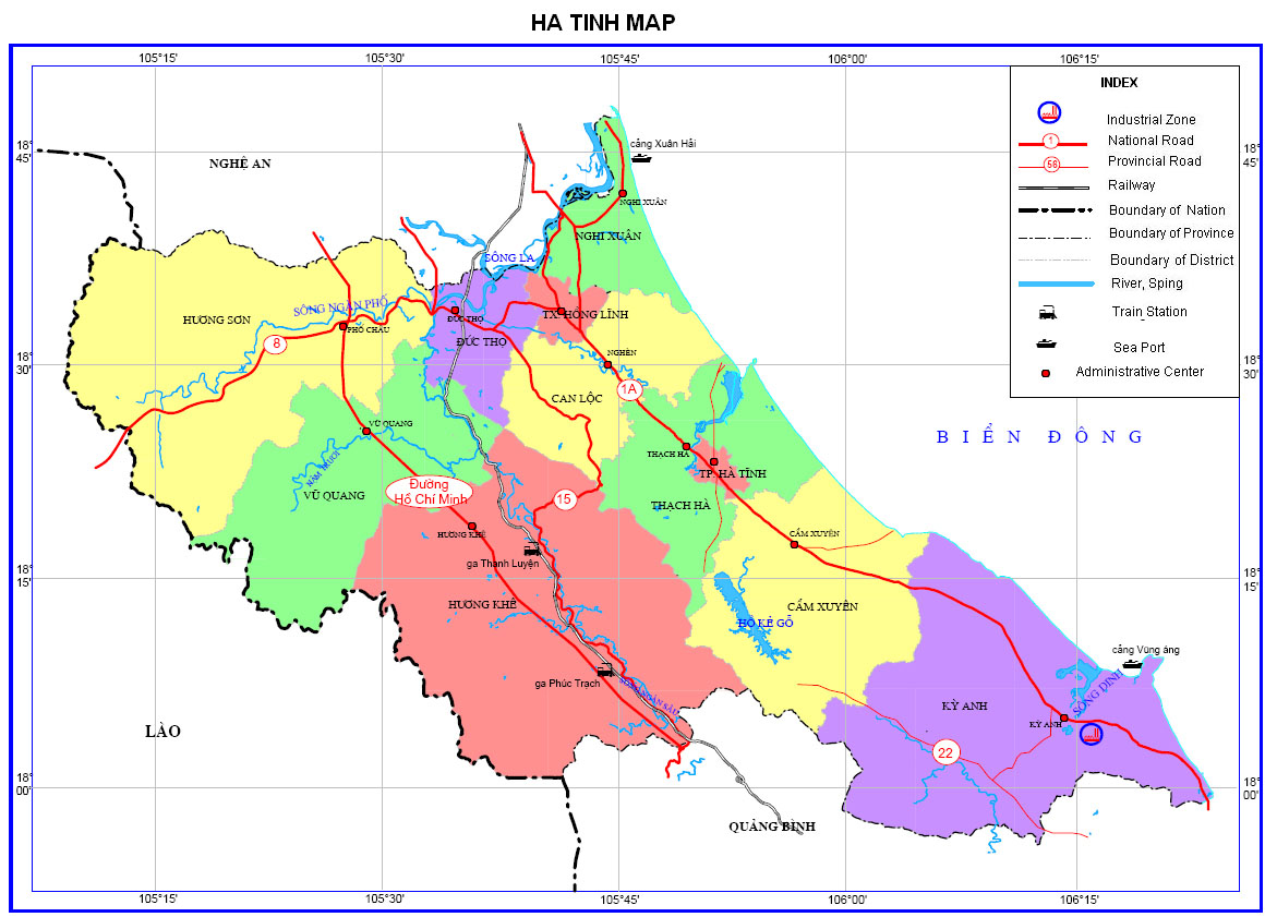 Bảng giá nhà đất Hà Tỉnh từ năm 2015 đến 2020