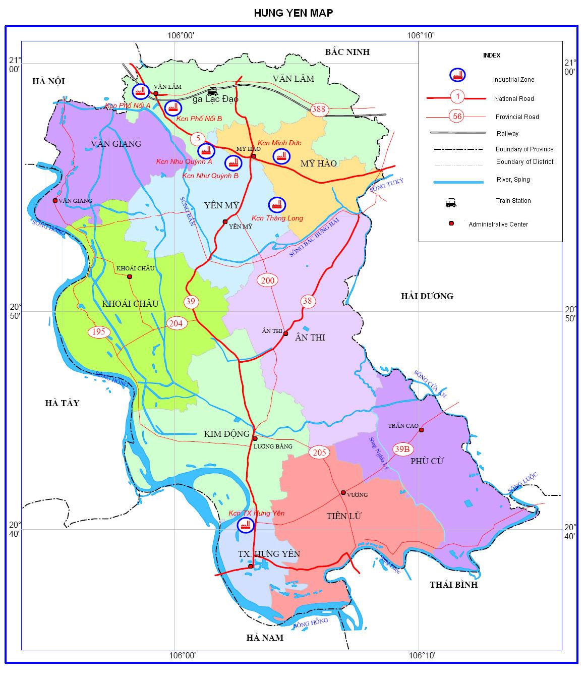 Bảng giá nhà đất Hưng Yên từ năm 2015 đến 2020