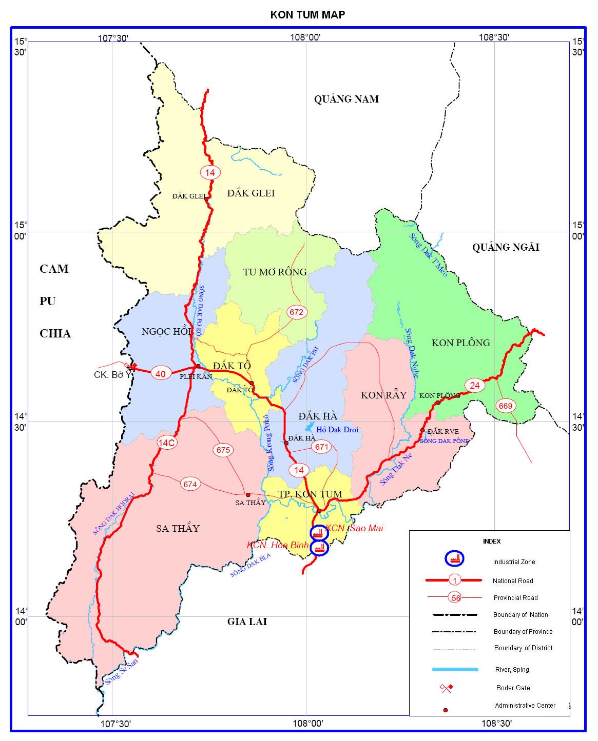 Bảng giá nhà đất Kon Tum từ năm 2015 đến 2020