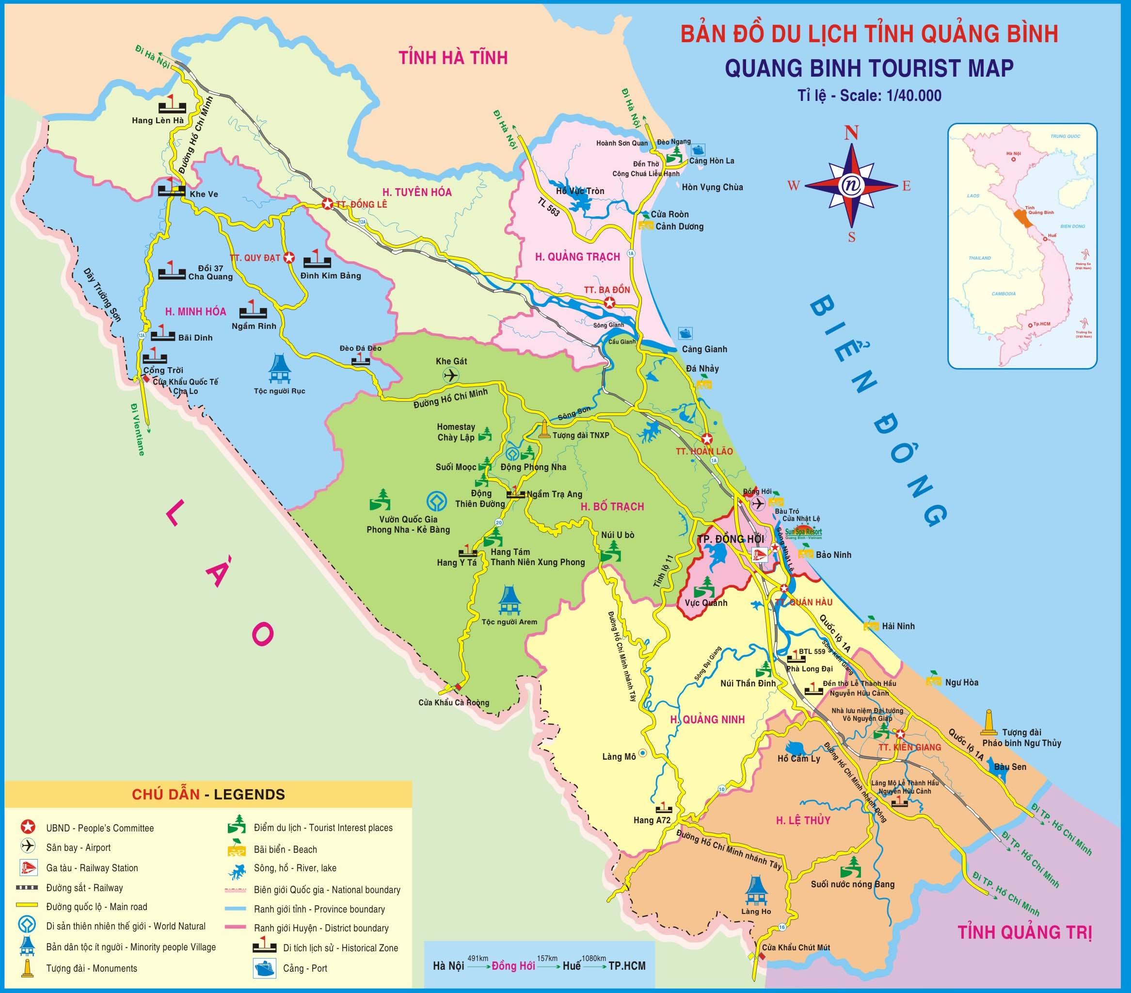 Bảng giá nhà đất Quảng Bình từ năm 2015 đến 2020
