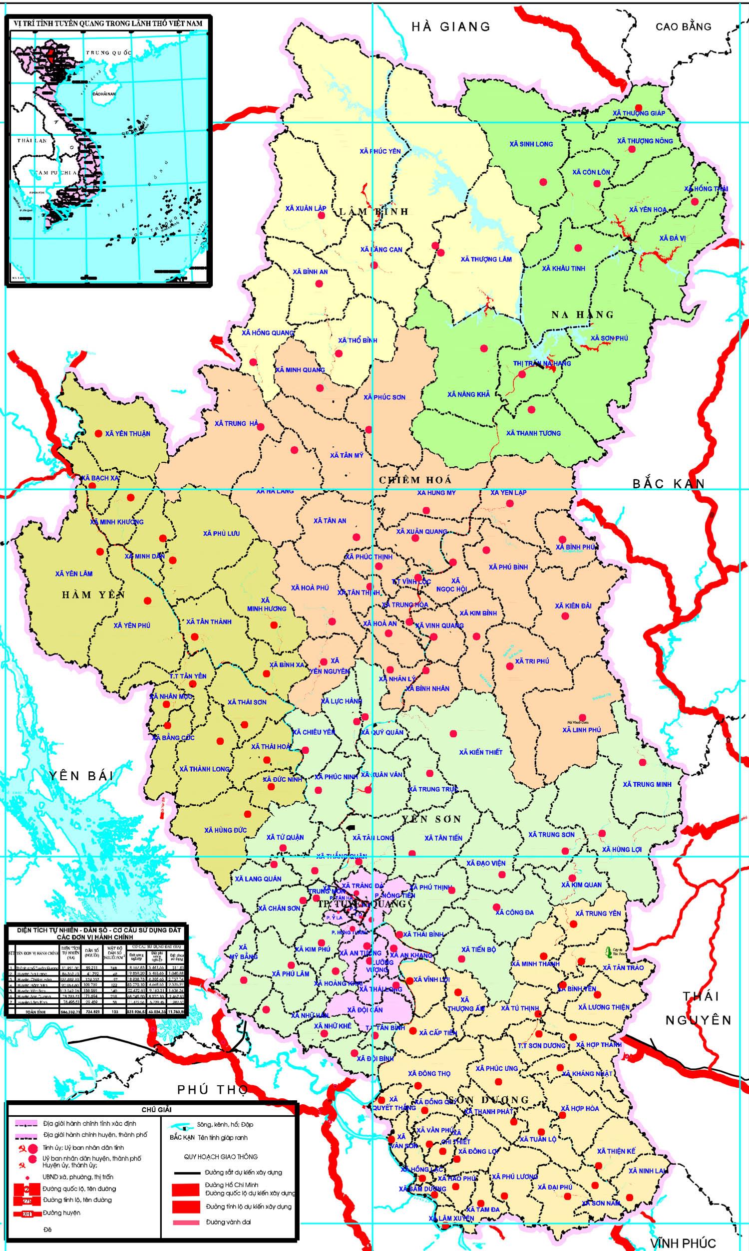 Bảng giá nhà đất Tuyên Quang từ năm 2015 đến 2020