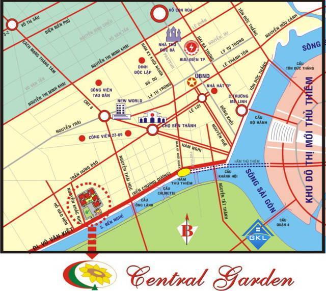 Cho thuê căn hộ chung cư Central Garden – Giá tốt Nhất