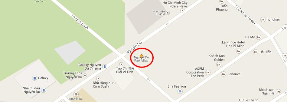 Cho thuê căn hộ dịch vụ biệt thự Nguyễn Du Park Villas