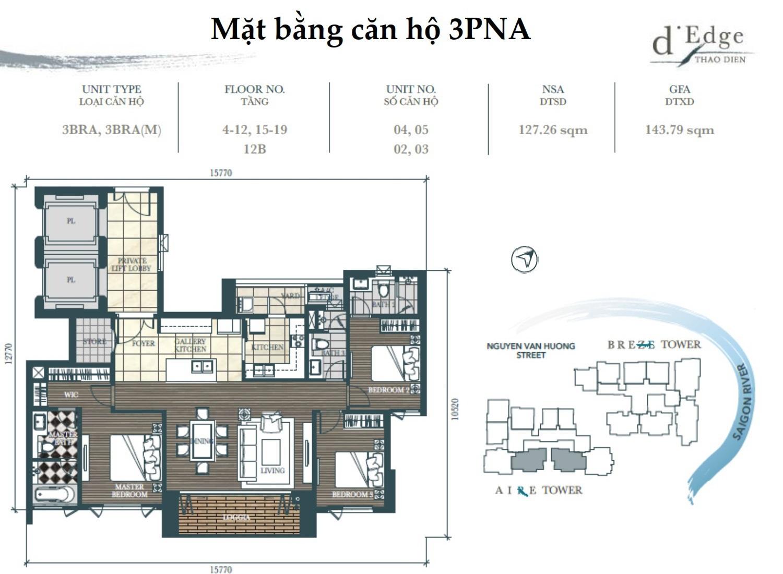 Bảng giá cho thuê căn hộ chung cư D'Edge Thảo Điền