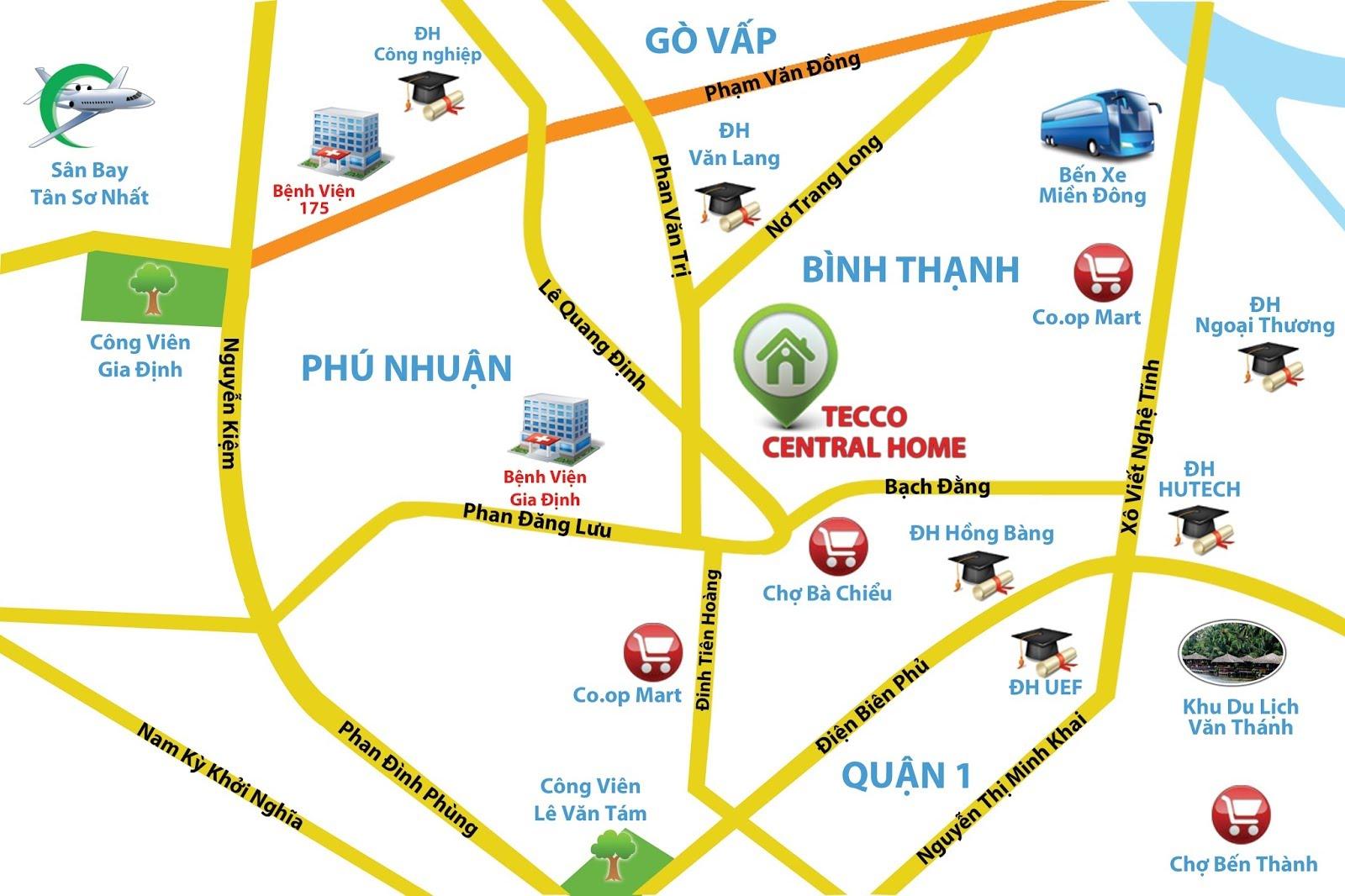 Bảng báo giá cho thuê căn hộ chung cư Tecco Central Home