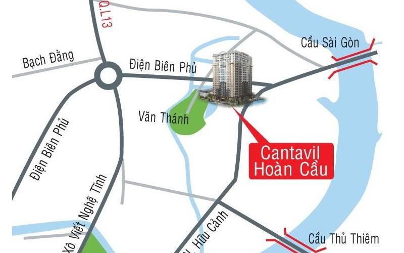 Căn hộ chung cư cho thuê Cantavil Hoàn Cầu tiện ích đan xen nhiều sức hút