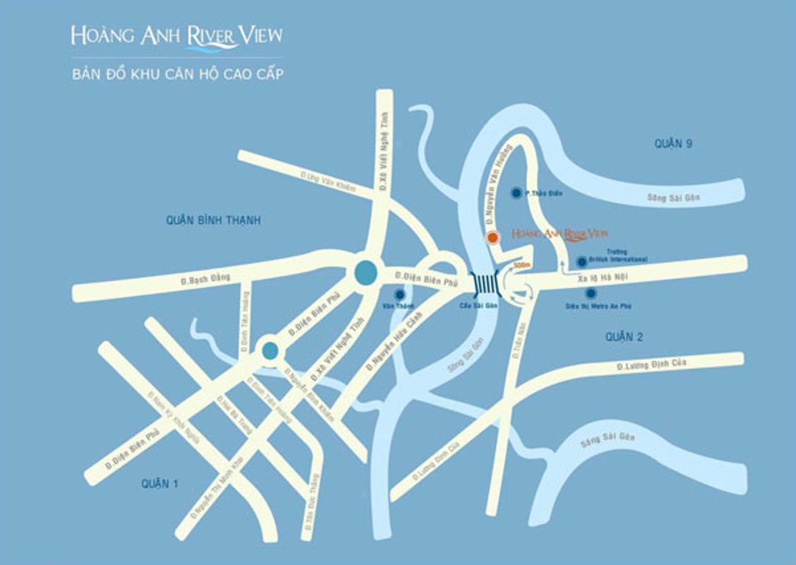 Cho thuê căn hộ chung cư Hoàng Anh River View giá rẻ tại Thảo Điền