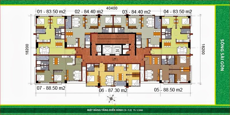 Bảng giá cho thuê căn hộ chung cư SamLand River View