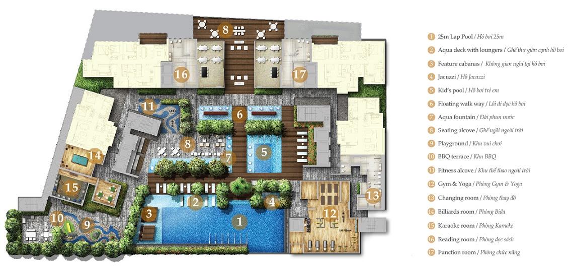 Bảng báo giá cho thuê căn hộ chung cư Nassim Thảo Điền
