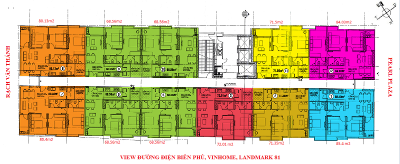 Cho thuê căn hộ chung cư 152 Điện Biên Phủ