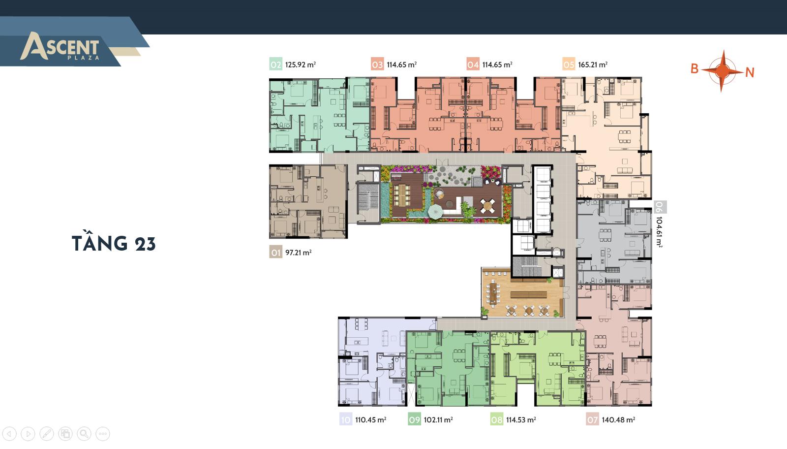 Giá Cho thuê căn hộ chung cư Ascent Plaza bao nhiêu ? 12