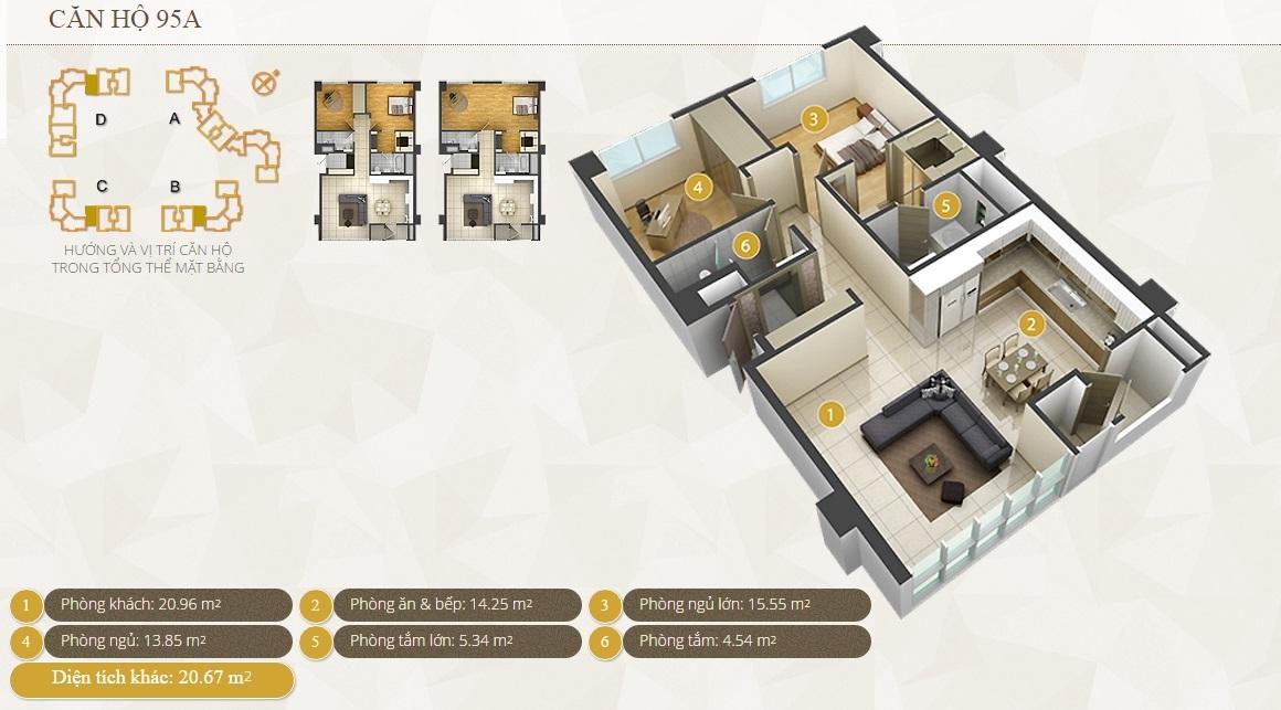 Cho thuê căn hộ chung cư Imperia An Phú