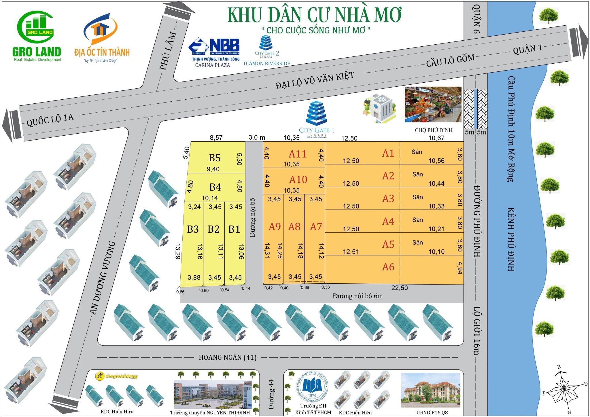 Bán nhà phố đường Bến Phú Định Quận 8