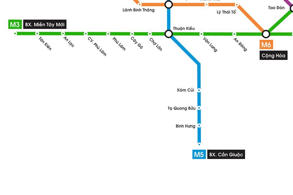 Sơ đồ các tuyến Metro trên địa bàn TP.HCM 4