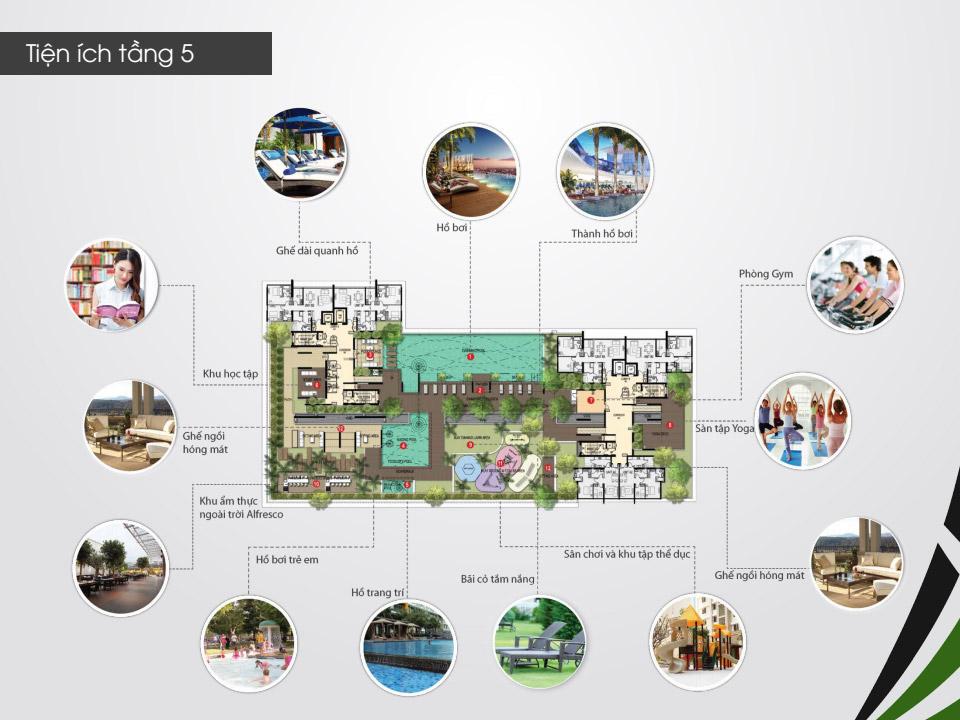 Căn hộ chung cư The Ascent cho thuê thiết kế tuyệt mỹ kênh nhiều lợi