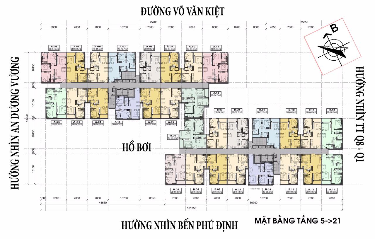 Cho thuê căn hộ chung cư High Intella