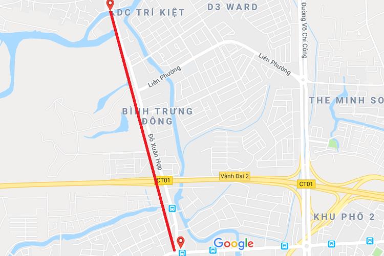 Quy hoạch đường Nguyễn Duy Trinh đi qua Quận 2, Quận 9 lên 30 mét