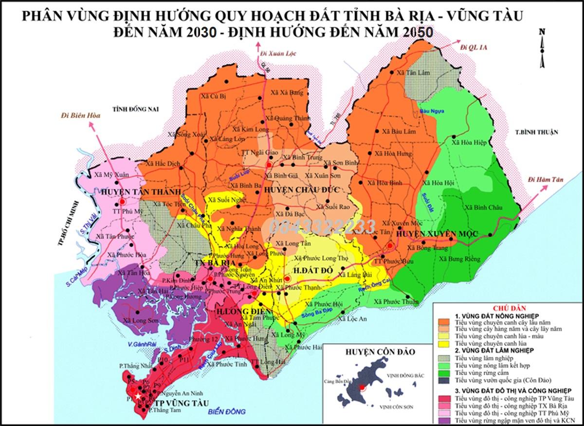 Quy hoạch Bình Châu Bà Rịa Vũng Tàu tầm nhìn 2030 - 2050